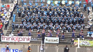 Jackson State turns up in the stands at the Alabama State Game. | @TheeFClub