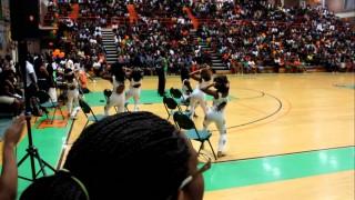 Diamonds of FAMU dancing at the 2011 SPIRIT SHOWCASE #4